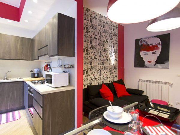 Bed and Breakfast La Favorita zona stadio a Palermo - Kitchen Leaving Room